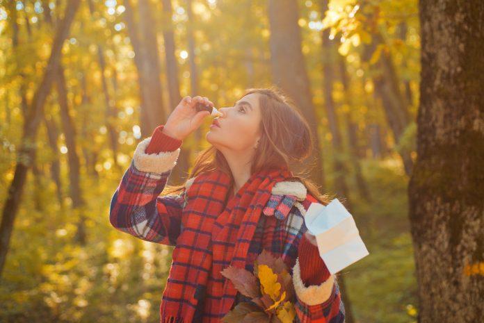 Sinusite : gouttes dans le nez