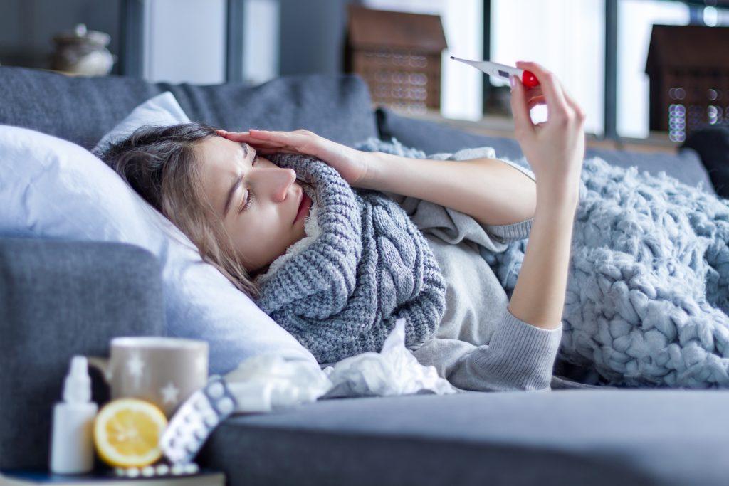La grippe : Prise de température