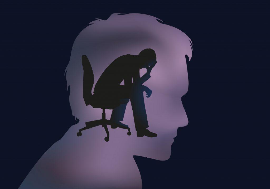 Schizophrénie  : homme cerveau