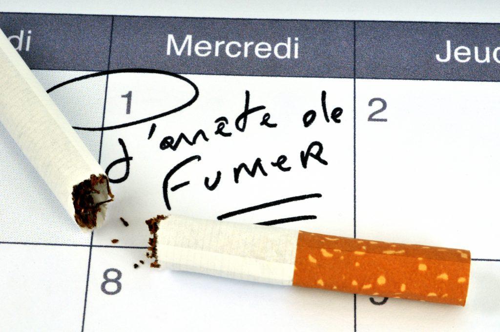 Arrêter de fumer : calendrier avec cigarette