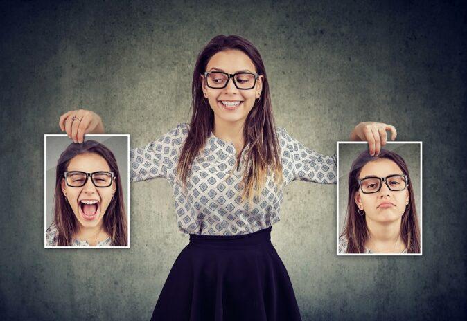 bipolarité : femme brune