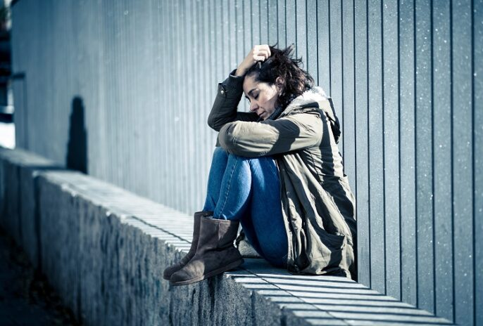 Etat de stress post traumatisme : une femme